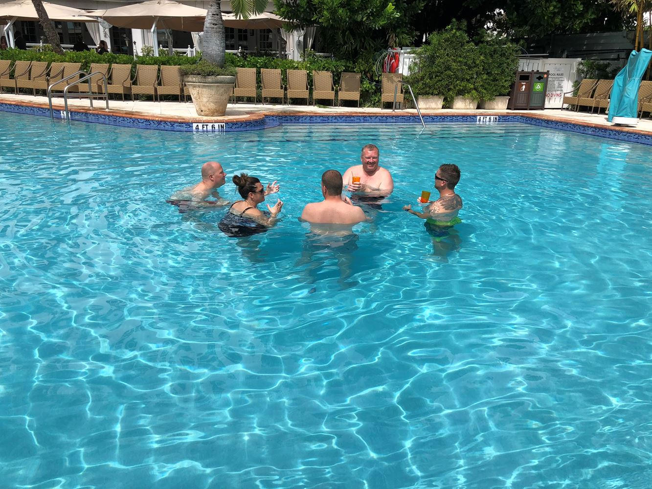 Very important ITPA meetings happen in the pool.
